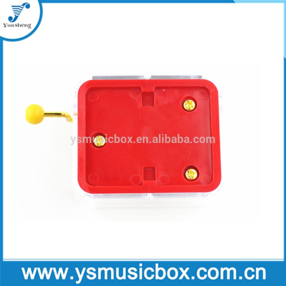 Golden colour hand crank music box