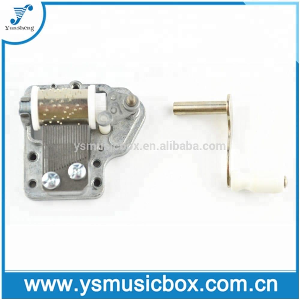Factory Price For Pull String Toy Mechanism - Yunsheng Bidirectional 18 note hand crank music box – Yunsheng